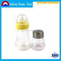glass sparkling water bottle for drinking juice and milk