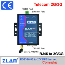 ZLAN8303 2G 3G DTU serial port RS232 RS485 to Telecom 2G/3G RJ45 GPRS ethernet gsm modem