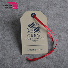 Custom made jeans printed paper swing hand tag for garment