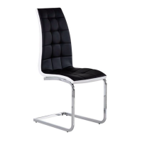 Modern cheap high back ergonomic luxury leather dining chairs