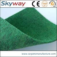 High quality low price non woven plain velour wall to wall carpet