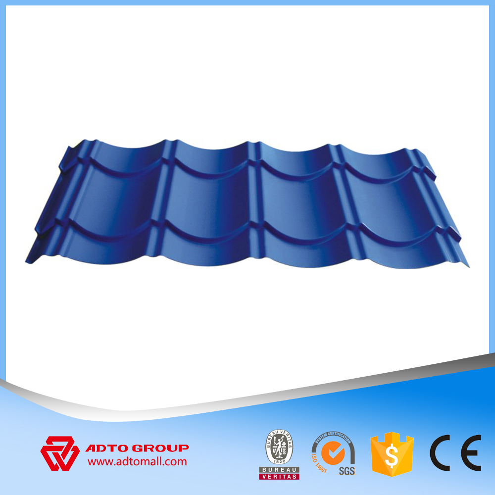 Aluminium Zinc Glazed Tile Roofing Sheets Wave Tile Corrugated Sheet