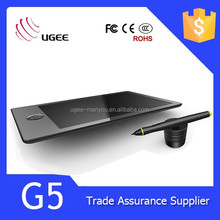 Ugee G5 USB Art Drawing Graphic Pad with Rechargeable Stylus Pen Graphic Tablet 9*6 Inch