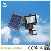 60 LEDs PIR Human Body Motion & Light Sensor Solar Powered Panel Security Lamp