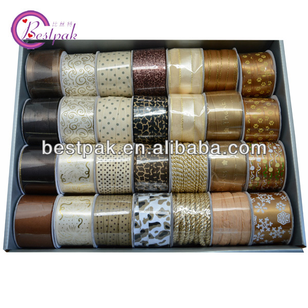 fancy fashion christmas glitter ribbon