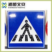 china manufacture high quility led solar powered traffic sign