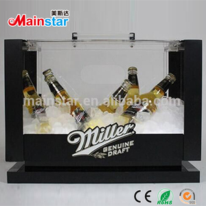 indoor usage counter top wine bottle can acrylic led display box