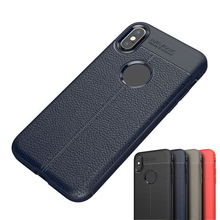 Retro Lychee PU Leather TPU Soft Back Case Cover Protector for iPhone X