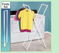Double pole clothes stand clothes-horse hanger aluminium clothes drying rack