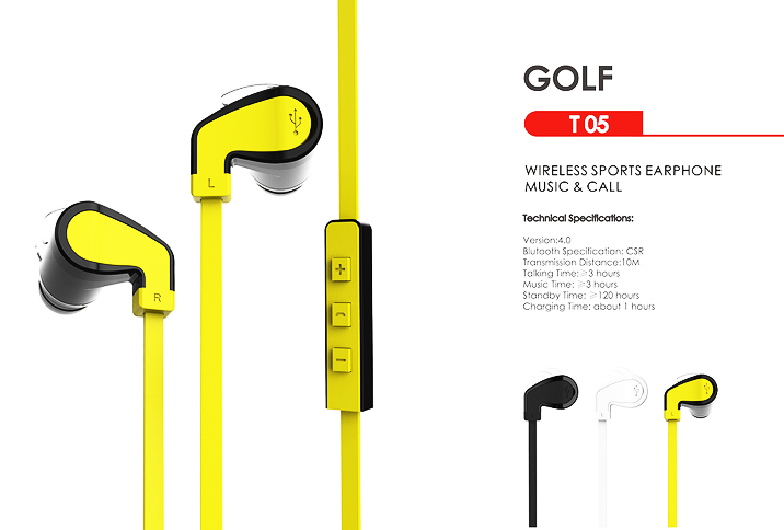 Wallytech T05 Lightweight Wireless Bluetooth 4.0 Earbuds. Premium wireless Earbud Headphones with built in Microphone
