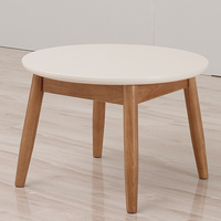 Living room wood round coffee table teapoy table