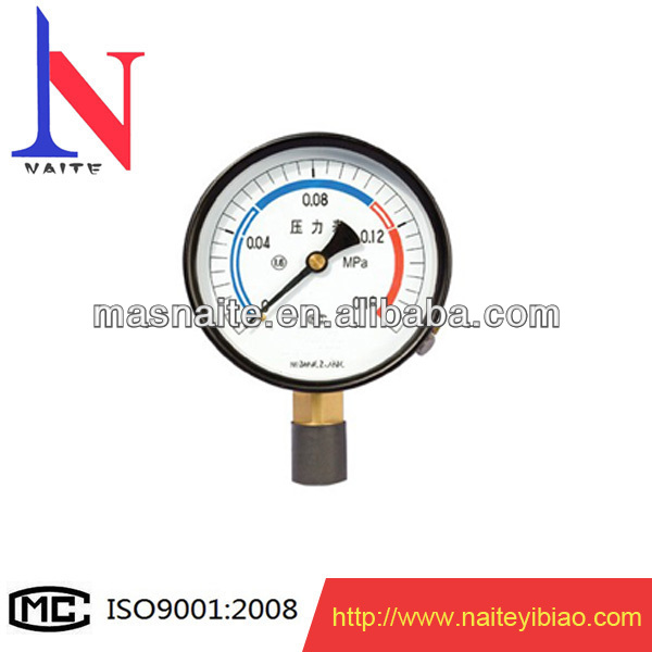 Natural gas pressure gauge