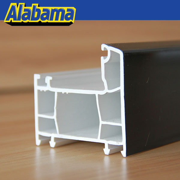 Plastic Extrusion Supplier window and door upvc profile, pvc side hinged window profile
