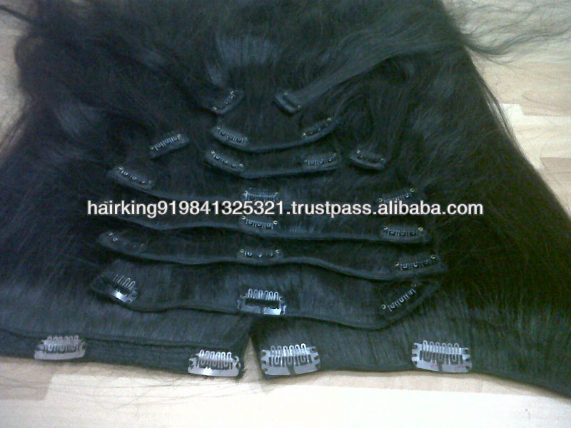 indian human hair extensions and clips and tip hair products