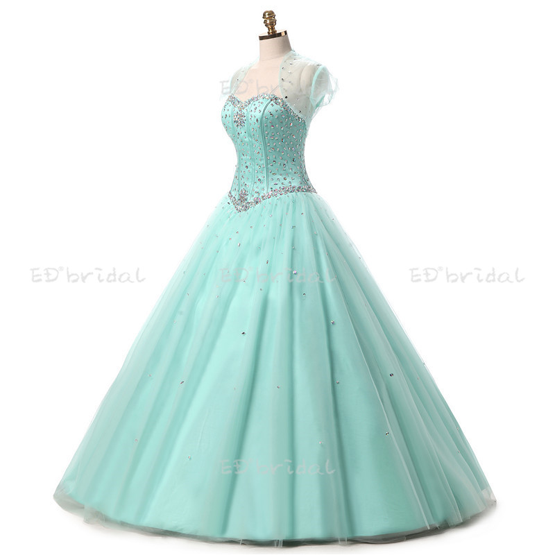 2018 Sweetheart Long Mint Green Ball Gown Prom Dress For Party - Buy ...