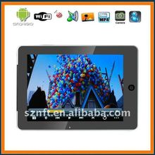 8inch RK2918A android2.3 512MB RAM 4GB HDD Support1080P video WIFI Android 2.3 tablet PC