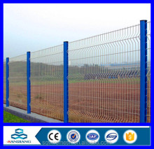 Security PVC coated / Powder Coated Curved Welded Mesh Fence