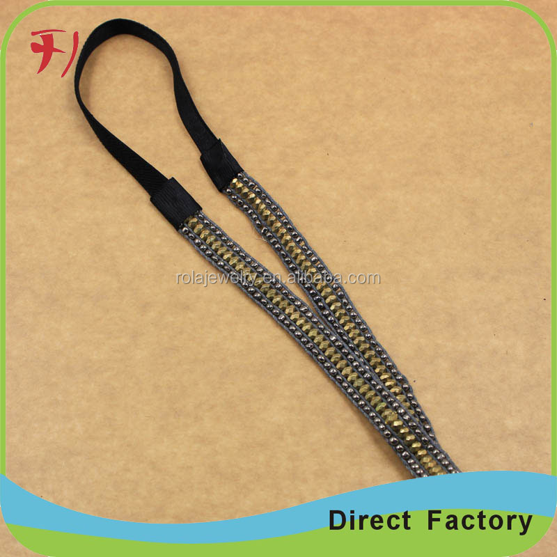 Solid steel material custom women new adjustable elastic headbands