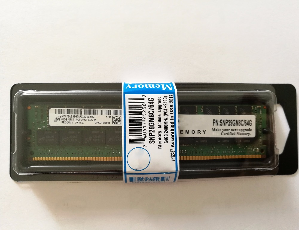 high capacity A8711890 FOR DELL 64GB 2400MHZ PC4-19200 CAS-17 ECC REGISTERED 4R X4 DDR4 288-PIN LRDIMM on Alibaba CC