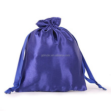 Wholesale Custom Printed Satin Silk Drawstring Pouch Fabric Gift Jewelry Bags