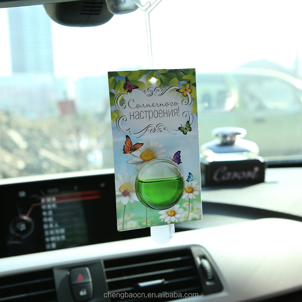 New Trend Liquid Customized Car Paper Air Freshener