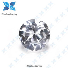 China round brilliant cut white sapphire corundum neelam stone