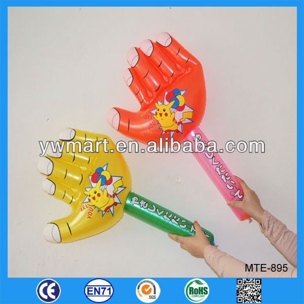 Inflatable arms with hands, inflatable hand clappers, inflatable clapper