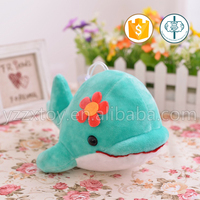 Green plush stuffed dolphin for gift