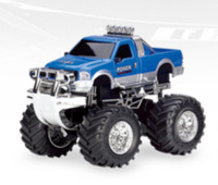 "4"" 1:43 Scale Mini RC Truck MC08B-01 Blue"