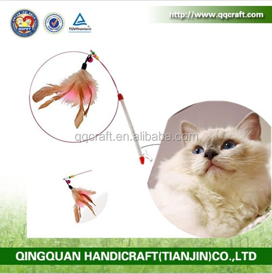 BSCI QQ Catoy Factory flying frenzy da bird cat toy with feather