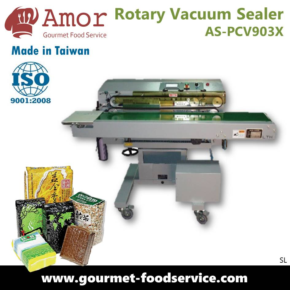 High efficient nozzle type gas extrusion vacuum band sealer