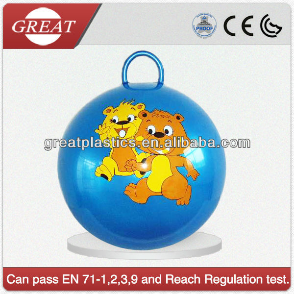 18inch round handle jumping ball for children