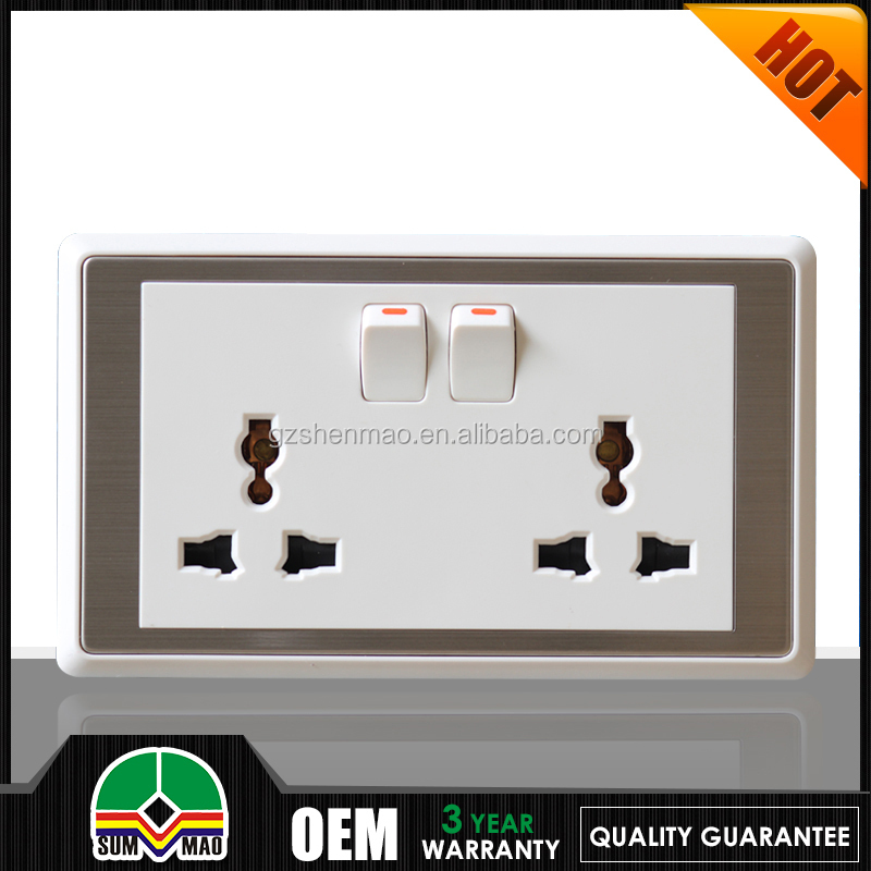 15 amp switched socket/electrical accessories charing plugs color electricial extension cord plug and socket 13a
