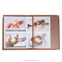 Durable food tray / 4 panels menu cover paper folder for restaurant menu catering material /coaster