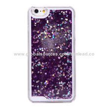PC Glitter mobile phone cases for iPhone 6