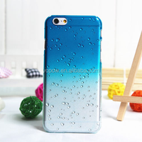 Hot Selling Gradient Color Rain Drop Style Clear Crystal Hard Transparent Phone Case for IPhone 5 6 6Plus