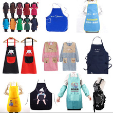 Cheap promotion custom logo cotton kitchen cooking apron,plastic pvc disposable apron