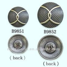 decorative clothes snap button with cheap price (B9851-B9852)