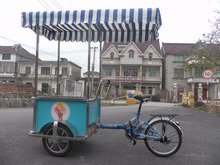 JX-FB160 CE Approved Commercial Bike Food Carts bike ice cream cart for sale