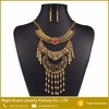 Cheap Indian Style Luxury Antique Gold Chunky Statement Necklaces Earrings Jewelry Set