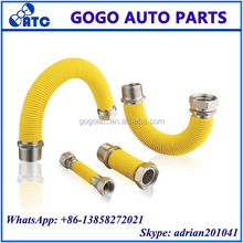 Yellow PE Coated Stainless Steel Corrugated Extensible Gas Hose