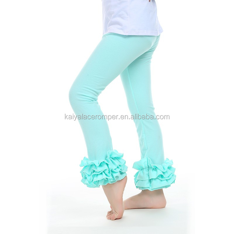 NO MOQ fluffy ruffles tight triple sew sassy icing legging baby icing ruffle pants