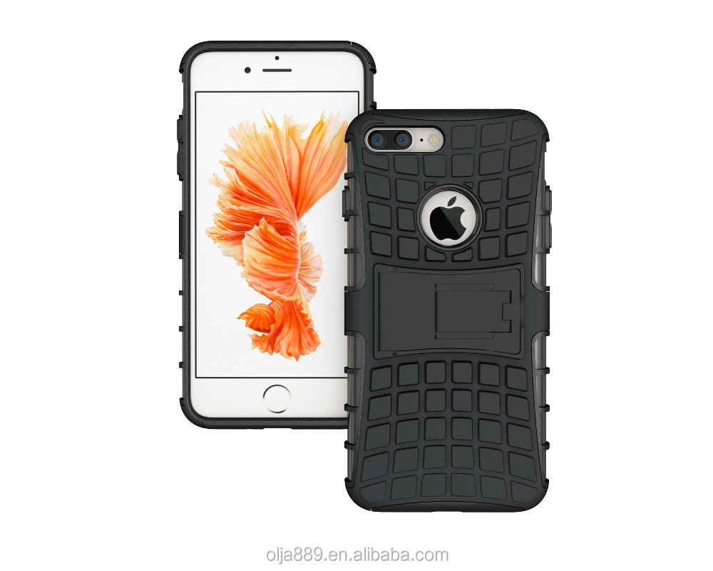 New Arrival Hybrid Silicone PC Kickstand Armor Case for iPhone7 case