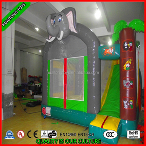 2016 elephant inflatable bouncer, jumping castle with slide, inflatable bounce house