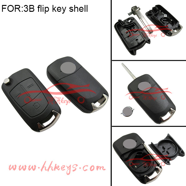Best offer for Opel Flip Remote Key Shell 3 buttons with 4 types blade optional