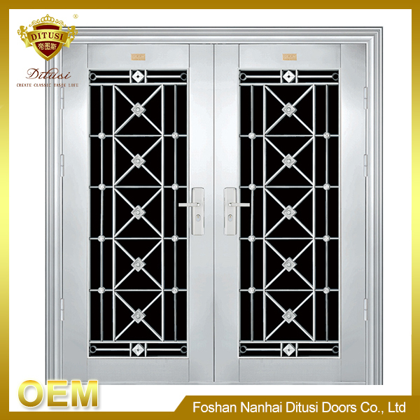 commercial House main double steel gate design JH314