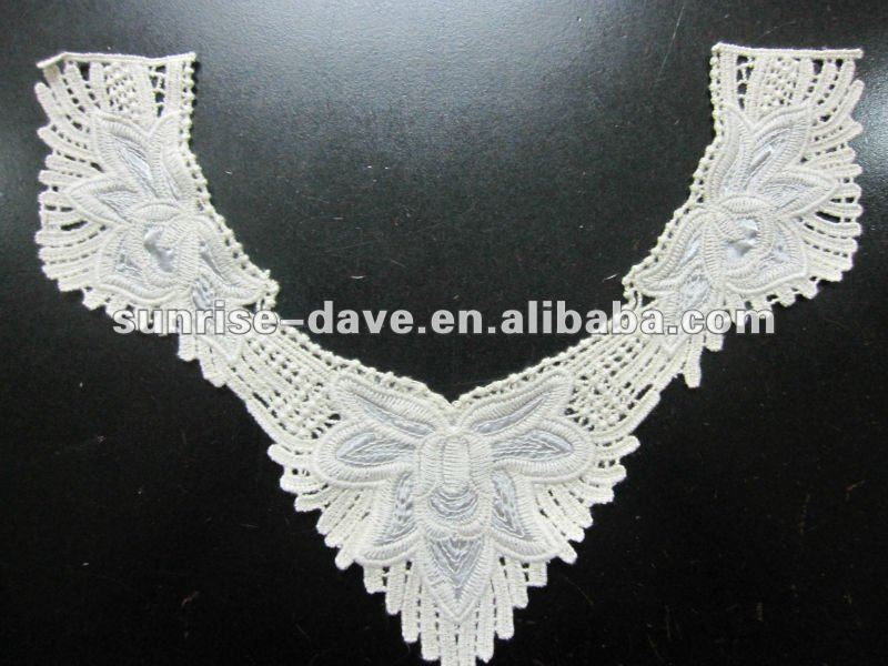 V shape cotton neck lace