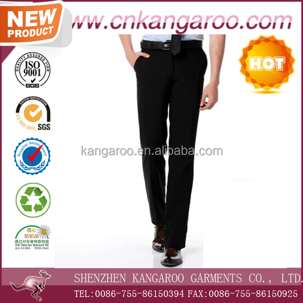 Hot sale mens black slim fit formal suit pants