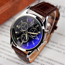 Alibaba wholesale YAZOLE 271 Men's sport Watches blue glass 3atm waterproof leather wristwatches