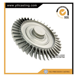 customized lost wax investment casting turbine wheel/disc used for auto/aviation turbojet/marine/locomotive spare parts